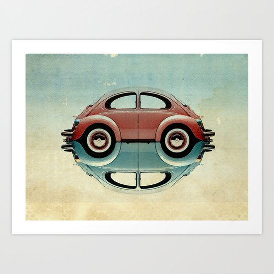 4 speed Bug Art Print