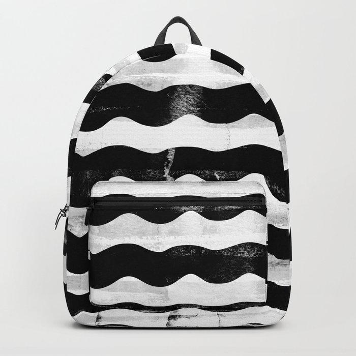 Black Waves Backpack