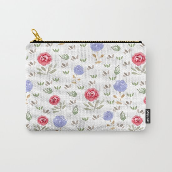 Watercolor . Floral pattern 3 Carry-All Pouch