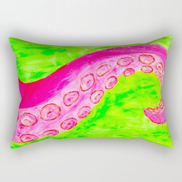 Pink Tentacle Rectangular Pillow
