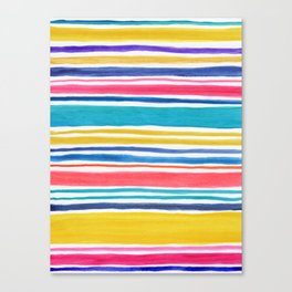Sunny Day Stripes Canvas Print