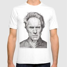 Clint LARGE Mens Fitted Tee White