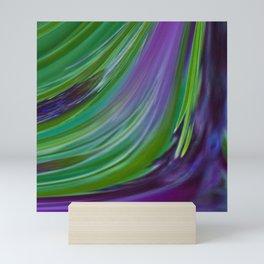 Purple Green Contemporary Abstract Mini Art Print