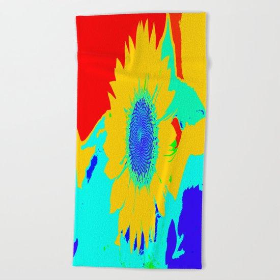 Fun Sunflower Beach Towel