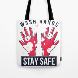 VIRUS HANDS QUOTE ART DESIGN Tote Bag