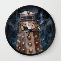 dalek Wall Clocks featuring Dalek by Steve Purnell