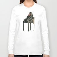 monkey island Long Sleeve T-shirts featuring Monkey by Fabio D'Amato