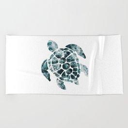 Sea Turtle - Turquoise Ocean Waves Beach Towel