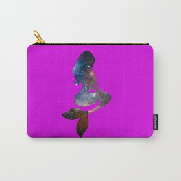 Galaxy Mermaid 3 (Fuscia) Carry-All Pouch