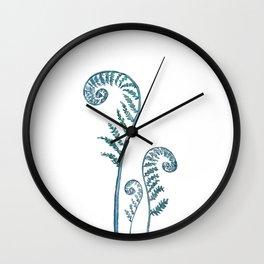 fern painting 2017 Wall Clock