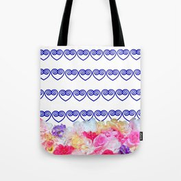 Hmong heart swirl stripe bag Tote Bag
