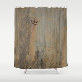 Disgusting Grungy Rusty Wounded Painted Metal Shower Curtain