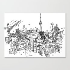Toronto! (Dark T-shirt Version) Canvas Print