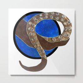 Creature of Water (porthole edit) Metal Print