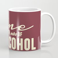 alcohol Mugs featuring NOTES OF ALCOHOL by Sandhill