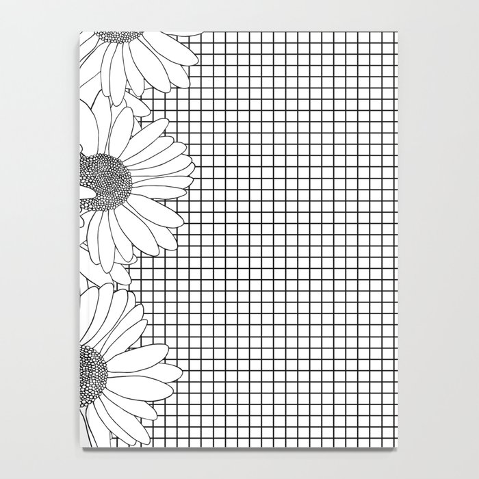 Daisy Grid on Side Notebook