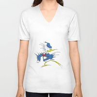 donald duck V-neck T-shirts featuring Donald LASORBIRD by Futurlasornow