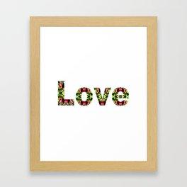 Typography Love Framed Art Print