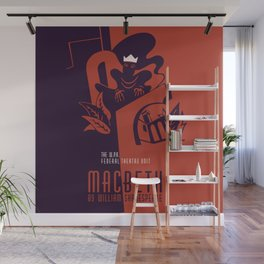 Retro Macbeth William Shakespeare Wall Mural