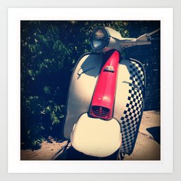 Lambretta Scooter Art Print