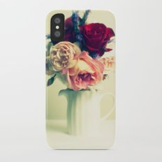 Roses & Lavender iPhone X Slim Case