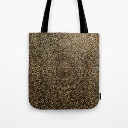 Decorative Ek Onkar / Ik Onkar  embossed on gold Tote Bag