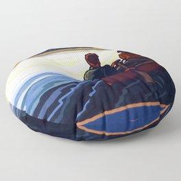 Muskoka Travel Poster Floor Pillow