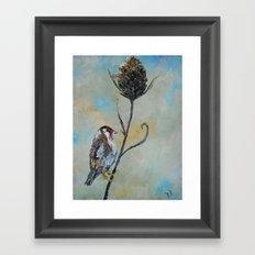 Goldfinch on Thistle Framed Art Print