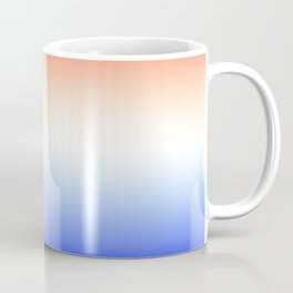 Red White and Blue Merging Gradient Pattern Coffee Mug