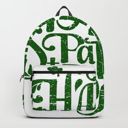 Happy St Patrick's day retro green typography design Backpack