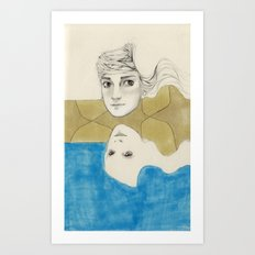 Earth Water and Wind! Art Print