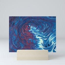Pink and Blue Splash Mini Art Print