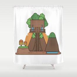 Tree Hose III Shower Curtain