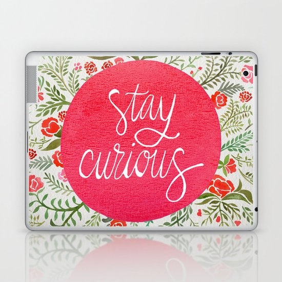 Stay Curious – Pink & Green Laptop & iPad Skin