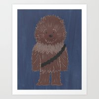 chewbacca Art Prints featuring Chewbacca by The Naptime Artist