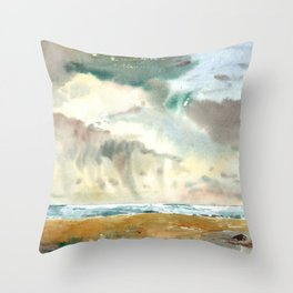 sea weather Throw Pillow