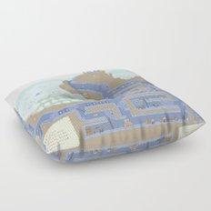 Undertunnels Maze Floor Pillow