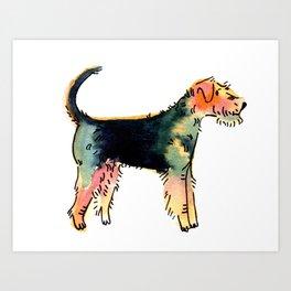 Hunter - Dog Watercolour Art Print