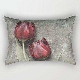 Red Tulips II Rectangular Pillow