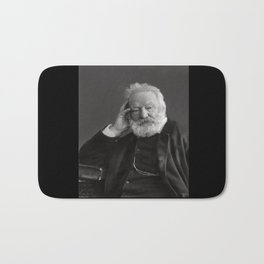 Nadar. Portrait of Victor Hugo 2 Bath Mat