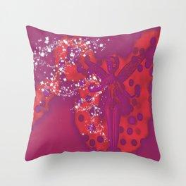 Sparkle Flying Fairy Throw Pillow