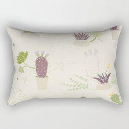 My Potted Cactus Pattern Rectangular Pillow