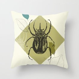 Beetle colors Throw Pillow