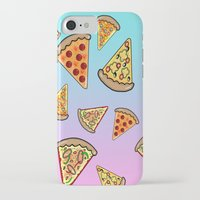 pizza iPhone & iPod Cases featuring PIZZA by SteffiMetal