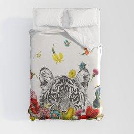 Happy Tiger Duvet Cover