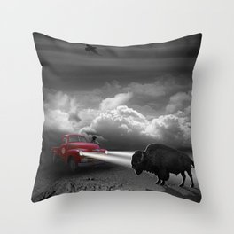 Meeting Variant 2 without deputy Throw Pillow