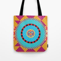 art deco Tote Bags featuring Deco Art by MadTee