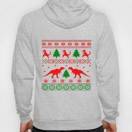 Christmas ugly sweater dinosaur pattern Hoody