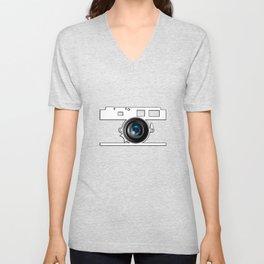 Camera Lens Unisex V-Neck