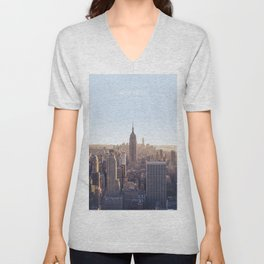 New York Skyline, USA Travel Artwork Unisex V-Neck